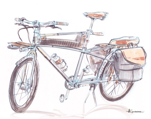 Rob tsunehiro, oregon manifest bicycle, water color, industrial design, oregon handmade bicycle show, bend oregon, 2011, mobile jewelry, preferred transportation